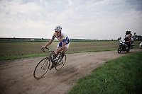 Jelle Wallays (BEL/Topsport Vlaanderen-Baloise) leading the race over the mudded terrain.<br /> <br /> 90th Schaal Sels 2015