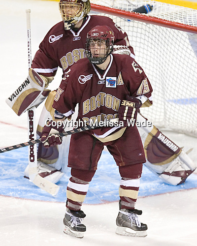 (Cory Schneider) Stephen Gionta - The Boston College Eagles defeated the University of North Dakota Fighting Sioux 6-5 on Thursday, April 6, 2006, in the 2006 Frozen Four afternoon Semi-Final at the Bradley Center in Milwaukee, Wisconsin.