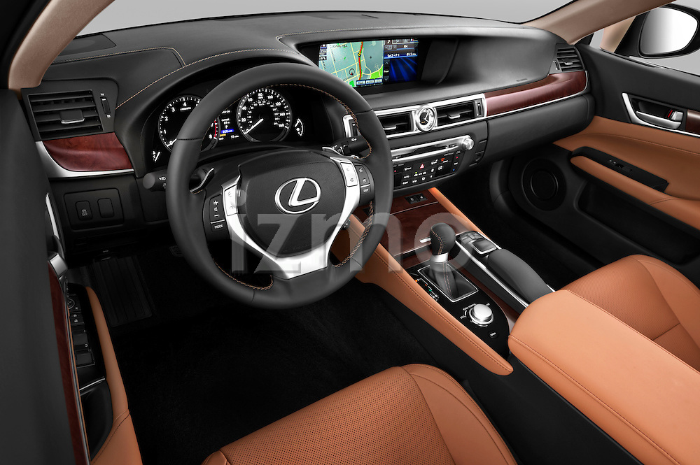 High angle dashboard view of a 2013 Lexus GS 350