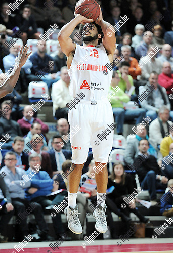 2014-12-02 / Basketbal / seizoen 2014-2015 / Antwerp Giants - Le Mans / Jean-Marc Mwema<br />