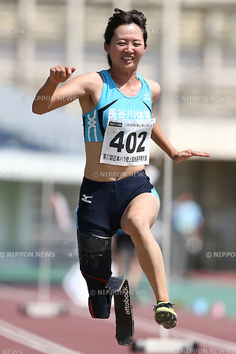Sayaka Murakami,<br /> MAY 1, 2016 - Athletics :<br /> Japan Para Athletics Championships<br /> Women's Long Jump T42 Final<br /> at Coca Cola West Sports Park, Tottori, Japan.<br /> (Photo by Shingo Ito/AFLO SPORT)