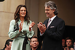 VERONICA BERTI, ANDREA BOCELLI. Virtuoso tenor Andrea Bocelli is honored with a star on the Hollywood Walk of Fame. Hollywood, CA, USA. March 2, 2010.