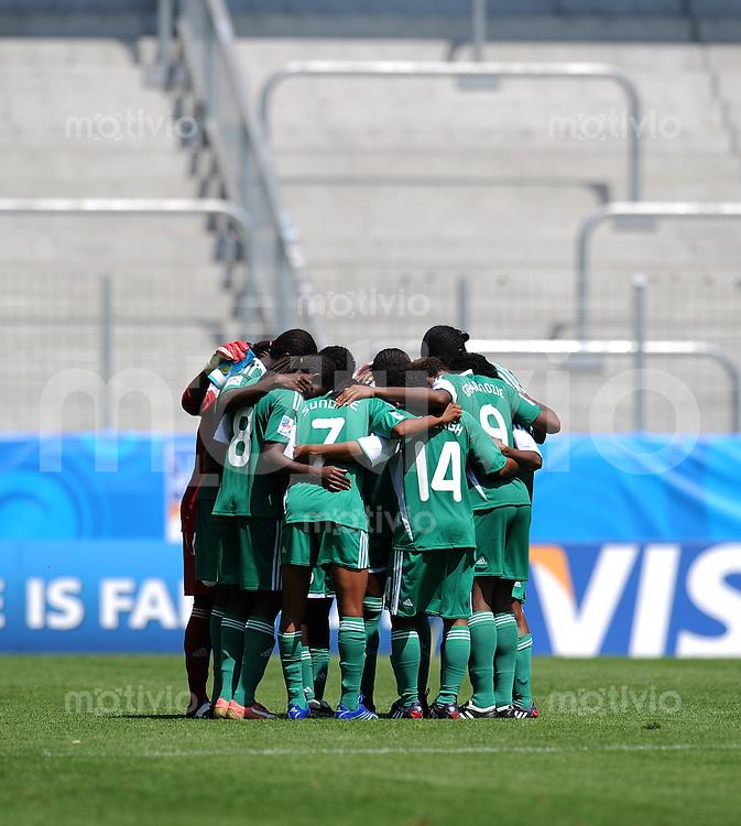 FRAUEN U20 FUSSBALL WM 2010  Vorrunde   14.07.2010 England - Nigeria Kreis Nigeria