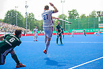 Krefeld, Germany, May 19: During the Final4 Gold Medal fieldhockey match between Uhlenhorst Muelheim and Mannheimer HC on May 19, 2019 at Gerd-Wellen Hockeyanlage in Krefeld, Germany. (worldsportpics Copyright Dirk Markgraf) *** Timm Haase #27 of Mannheimer HC