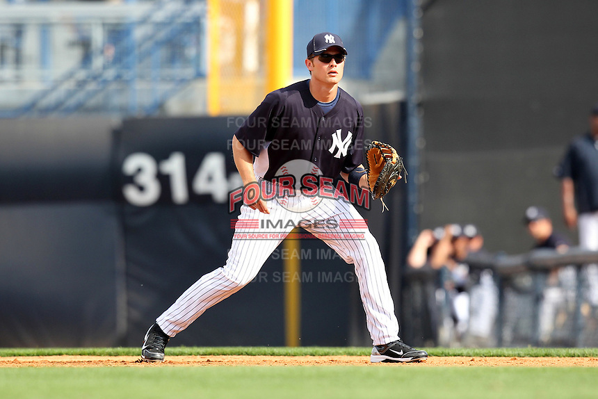 New York Yankees Bradley Suttle #93 during a Spring Training game vs the Houston Astros at George M. Steinbrenner Field in Tampa, Florida;  March 2, 2011.  New York defeated Houston 6-5.  Photo By Mike Janes/Four Seam Images