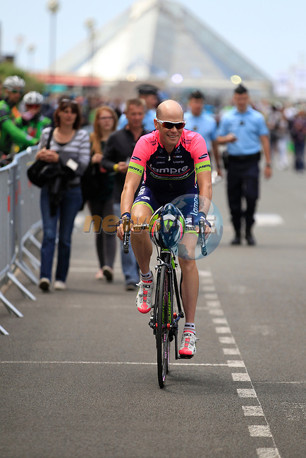 Chris Horner (USA) Lampre-Merida in Le Touquet for the start of Stage 4 of the 2014 Tour de France running 163.5km from Le Touquet to Lille. 8th July 2014.<br /> Picture: Eoin Clarke www.newsfile.ie