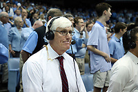 CHAPEL HILL, NC - JANUARY 11: Broadcast analyst Bobby Cremins during a game between Clemson and North Carolina at Dean E. Smith Center on January 11, 2020 in Chapel Hill, North Carolina.