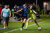 Kansas City, MO - Saturday June 17, 2017: Brittany Taylor, Lindsay Elston during a regular season National Women's Soccer League (NWSL) match between FC Kansas City and the Seattle Reign FC at Children's Mercy Victory Field.