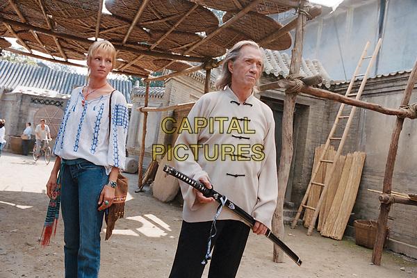 Kill Bill: Vol. 2 (2004) <br /> Uma Thurman &amp; David Carradine<br /> *Filmstill - Editorial Use Only*<br /> CAP/KFS<br /> Image supplied by Capital Pictures