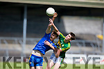 Kerry's Donal O'Sullivan and Roscommon's Darragh Murray in action during the Kerry V Roscommon U17 match at Cusack Park Ennis on Saturday. Photograph by Eamon Ward