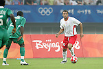 19 August 2008: Anthony Vanden Borre (BEL).  The men's Olympic soccer team of Nigeria defeated the men's Olympic soccer team of Belgium 4-1 at Shanghai Stadium in Shanghai, China in a Semifinal match in the Men's Olympic Football competition.