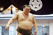 April 17th 2017, Tokyo, Japan;  Hakuho, Sumo : Yasukuni Shrine Honozumo is a ceremonial annual sumo tournament held in the precincts of the Yasukuni Shrine in Tokyo, Japan.