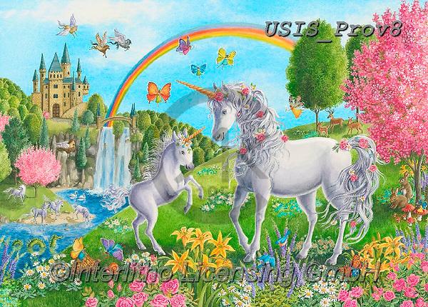 Ingrid, REALISTIC ANIMALS, REALISTISCHE TIERE, ANIMALES REALISTICOS,unicorn,unicorns,rainbox,castle, paintings+++++,USISPROV8,#a#, EVERYDAY ,puzzle,puzzles