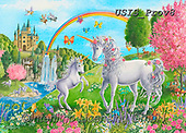 Ingrid, REALISTIC ANIMALS, REALISTISCHE TIERE, ANIMALES REALISTICOS,unicorn,unicorns,rainbox,castle, paintings+++++,USISPROV8,#a#, EVERYDAY ,puzzle,puzzles