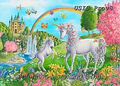 Ingrid, REALISTIC ANIMALS, REALISTISCHE TIERE, ANIMALES REALISTICOS,unicorn,unicorns,rainbox,castle, paintings+++++,USISPROV8,#a#, EVERYDAY