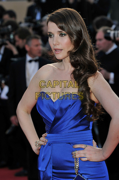 Natalia Oreiro.'On the Road' screening at the 65th  Cannes Film Festival, France..23rd May 2012.half length blue strapless dress hands on hips.CAP/PL.©Phil Loftus/Capital Pictures.