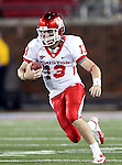 Houston Cougars quarterback Crawford Jones (13) in action during the game between the University of Houston Cougars and the Southern Methodist Mustangs at the Gerald J. Ford Stadium in Dallas, Texas. SMU defeats Houston 72 to 42...
