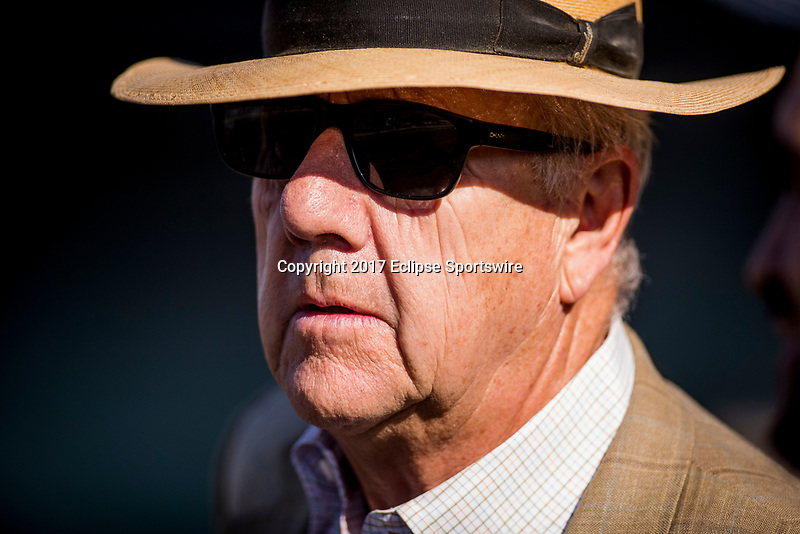 ARCADIA, CA - MAY 27: Neil Drysdale at Santa Anita Park  on May 27, 2017 in Arcadia, California. (Photo by Alex Evers/Eclipse Sportswire/Getty Images)