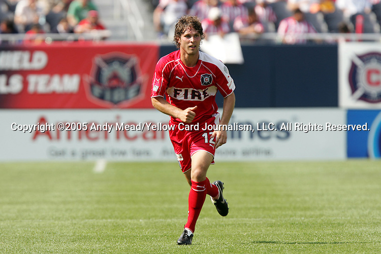 16 July 2005: Logan Pause. The Chicago Fire and Columbus Crew tied 1-1 at Soldier Field in Chicago, Illinois in a regular season Major League Soccer game.