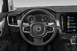 Car pictures of steering wheel view of a 2019 Volvo V90 Momentum 5 Door Wagon