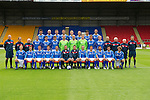 St Johnstone FC Season 2011-12.Back row from left, Cillian Sheridan, Sam Parkin, Mark Durnan, David McCracken, Frazer Wright, Steven Anderson, Francisco Sandaza and Marcus Haber..Middle row from left, Gordon Marshall (Goalkeeping Coach), Alec Cleland (Youth Coach), Tommy Campbell (Youth Development Manager), Graham Gartland, Carl Finnigan, Murray Davidson, Alan Mannus, Peter Enckelman, Zander Clark, Jamie Adams, Liam Craig, Graham Kirk (Coach), Atholl Henderson (Coach), Jocky Peebles (Asst Physio) and Frank Kenny (Physio)..Front row from left, Liam Caddis, Alan Maybury, David Robertson, Kevin Moon, Jody Morris, Derek McInnes (Manager), Tony Docherty (Asst Manager), Dave Mackay, Chris Millar, Callum Davidson, Sean Higgins and Stevie May..Picture by Graeme Hart..Copyright Perthshire Picture Agency.Tel: 01738 623350  Mobile: 07990 594431