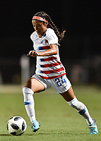 Lakewood Ranch, FL - Wednesday, October 10, 2018:   Samantha Meza during a U-17 USWNT match against Colombia.  The U-17 USWNT defeated Colombia 4-1.
