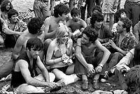 """- """"Re Nudo"""" rock music festival in Lambro Park  (Milan, 1976)....- festa del Proletariato Giovanile di """"Re Nudo"""" al Parco Lambro  (Milano, 1976)"""