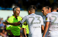 Leeds United's Kalvin Phillips appeals to the referee after the game<br /> <br /> Photographer Alex Dodd/CameraSport<br /> <br /> The EFL Sky Bet Championship - Leeds United v Swansea City - Saturday 31st August 2019 - Elland Road - Leeds<br /> <br /> World Copyright © 2019 CameraSport. All rights reserved. 43 Linden Ave. Countesthorpe. Leicester. England. LE8 5PG - Tel: +44 (0) 116 277 4147 - admin@camerasport.com - www.camerasport.com