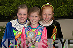 WINNERS: Alannagh Kissane and Caoimhe Fitzmaurice (Lixnaw) and Niamh Healy (Lyrachcompane) who were champion dancers in the Feile Cheoil at Lixnaw on Saturday........