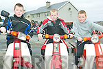 Ready, steady, go: All geared up and ready to take on the Honda 50 Fun Run challenge, or at least watch it in Athea last Sunday, were Daniel Murphy, Christopher Casey and Brian Fitzgerald.