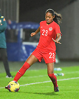 20200310  Calais , France : Canadian Jayde Riviere (23)  pictured during the female football game between the national teams of  Brasil and Canada on the third and last matchday of the Tournoi de France 2020 , a prestigious friendly womensoccer tournament in Northern France , on Tuesday 10 th March 2020 in Calais , France . PHOTO SPORTPIX.BE | DIRK VUYLSTEKE