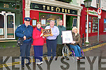 Winner: Proprietor of The Horseshoe Bar, Listowel, Gerry Behan receiving the Perpetual award for 1st prize in the Listowel Partnership Group's Shop Front competition  from Mary O'Hanlon , Sectretary. Also in the photo is Listowel Traffisc & Litter warden, Graham Borley,Paddy Keane and Councellor Jackie Barrett, Pro,