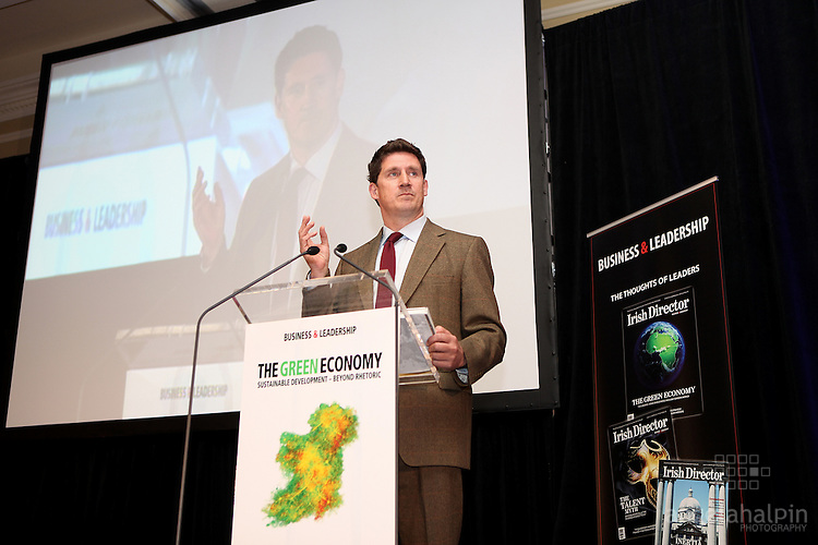 The Green Economy .Friday, May 14, 2010.Four Seasons Hotel, Dublin.L-R.Minister Eamonn Ryan