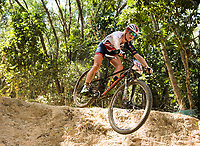 Picture by Alex Broadway/SWpix.com - 09/09/17 - Cycling - UCI 2017 Mountain Bike World Championships - XCO - Cairns, Australia - Annie Last of Great Britain competes in the Women's Elite XCO Final.