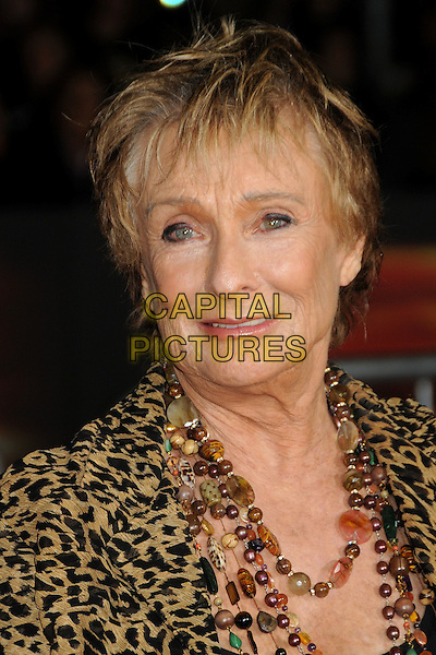 "CLORIS LEACHMAN.""Unstoppable"" Los Angeles Premiere held at the Regency Village Theatre, Westwood, California, USA..October 26th, 2010.headshot portrait black gold brown print animal leopard beads necklaces .CAP/ADM/BP.©Byron Purvis/AdMedia/Capital Pictures."