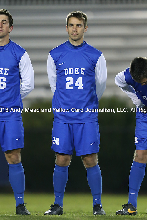 25 October 2013: Duke's Rob Dolot. The Duke University Blue Devils hosted the Wake Forest University Demon Deacons at Koskinen Stadium in Durham, NC in a 2013 NCAA Division I Men's Soccer match. The game ended in a 2-2 tie after two overtimes.