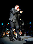 PASADENA, CA. - October 25: Bono of U2 performs in concert during their 360º Tour at the Rose Bowl on October 25, 2009 in Pasadena, California.