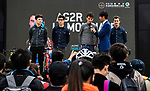 AG2R La Mondiale at the team presentation before the start of the 2018 Shanghai Criterium, Shanghai, China. 17th November 2018.<br /> Picture: ASO/Alex Broadway | Cyclefile<br /> <br /> <br /> All photos usage must carry mandatory copyright credit (&copy; Cyclefile | ASO/Alex Broadway)