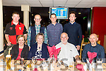 A Welcome home get together for Mary Craig, home from Adelaide with family from Abbeyfeale at the Kingdom Greyhound Stadium on Friday, Pictured front l-r Mary Craig, Bibi Brosnan, Joe Brosnan, Mike Foley Back l-r Shane Foley,Ned McElligott, Michael Byrne, Kevin McElligott