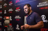 SÃO PAULO, SP, 05.11.2015 - UFC-SP -  Rogerio Minotouro Nogueira durante entrevista coletiva no UFC Media Day, no hotel Hilton, na zona sul de São Paulo, na manhã desta quinta-feira, 05. (Foto: Adriana Spaca/Brazil Photo Press)