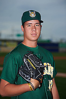 Lynchburg Hillcats pitcher Luis Lugo (47) poses for a photo before a game against the Wilmington Blue Rocks on June 3, 2016 at Judy Johnson Field at Daniel S. Frawley Stadium in Wilmington, Delaware.  Lynchburg defeated Wilmington 16-11 in ten innings.  (Mike Janes/Four Seam Images)