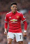 Alexis Sanchez of Manchester United during the premier league match at the Old Trafford Stadium, Manchester. Picture date 29th April 2018. Picture credit should read: Simon Bellis/Sportimage