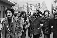 - the english actress Vanessa Redgrave participates to a demonstration in Milan during the European international march organized by the - Workers' Revolutionary Party -for the defense of the rights of the workers (January 1978)<br />