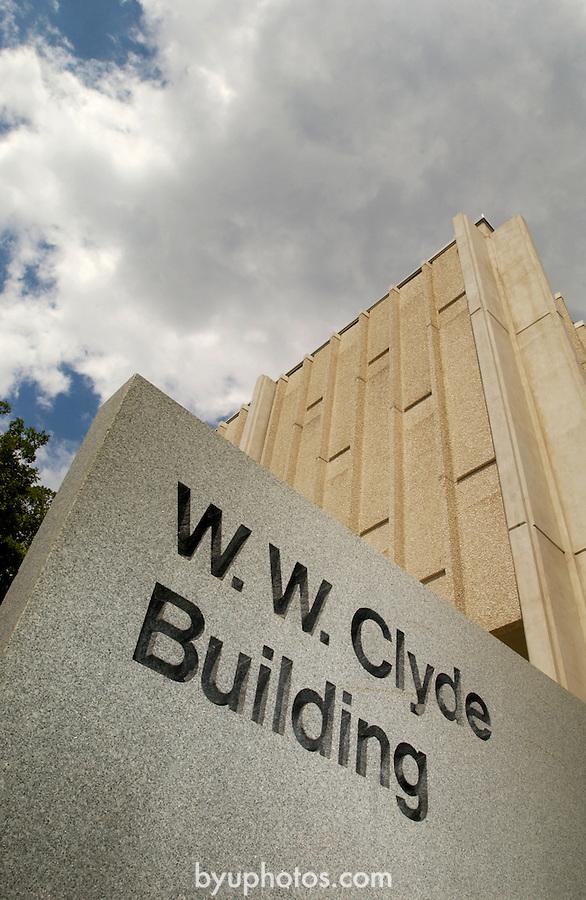 0407-40 GCS Clyde/Benson..W.W. Clyde Building..7/16/04..Photo by Jaren Wilkey/BYU..(801)422-7322.photo@byu.edu