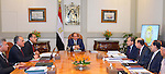 Egyptian President Abdel Fattah al-Sisi meets with Egyptian ministers  in Cairo, Egypt, on Nov 5, 2016. Photo by Egyptian President Office