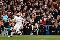 26th February 2020; Estadio Santiago Bernabeu, Madrid, Spain; UEFA Champions League Football, Real Madrid versus Manchester City; Gabriel Jesus (Manchester City) beats Daniel Carvajal (Real Madrid) with a timely header