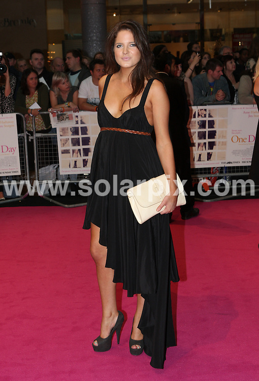 **ALL ROUND PICTURES FROM SOLARPIX.COM**                                             **WORLDWIDE SYNDICATION RIGHTS**                                                                                  Caption: Arrivals at the European Film Premiere of One Day, held at the Westfield Shopping Centre, London, UK. 24 August 2011                                                                              This pic: Alexandra Felstead                                                                                             JOB REF: 13878 WMB       DATE: 24_08_2011                                                           **MUST CREDIT SOLARPIX.COM OR DOUBLE FEE WILL BE CHARGED**                                                                      **MUST AGREE FEE BEFORE ONLINE USAGE**                               **CALL US ON: +34 952 811 768 or LOW RATE FROM UK 0844 617 7637**
