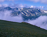 Trail Ridge, clouds, Forest Canyon, Rocky Mountain National Park, Colorado, USA