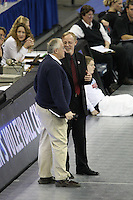 Omaha, NE - DECEMBER 20:  Head coach John Dunning of the Stanford Cardinal during Stanford's 20-25, 24-26, 23-25 loss against the Penn State Nittany Lions in the 2008 NCAA Division I Women's Volleyball Final Four Championship match on December 20, 2008 at the Qwest Center in Omaha, Nebraska.