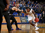 BROOKINGS, SD - NOVEMBER 6: David Jenkins #5 from South Dakota State University drives against Tim Finke #24 from Grand Canyon University during their game Tuesday night at Frost Arena in Brookings, SD. (Photo by Dave Eggen/Inertia)